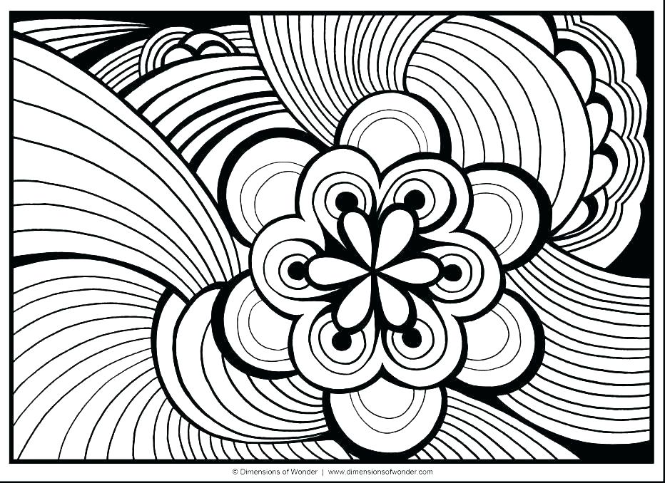 932x678 Hard Coloring Pages For Kids Super Hard Abstract Coloring Pages