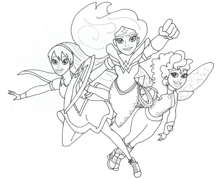 Super Hero Girls Coloring Pages