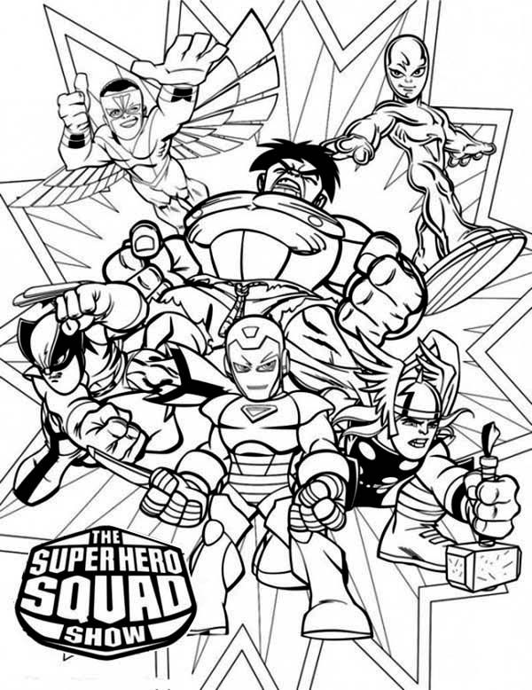 600x778 Magnificent Super Hero Squad Coloring Page On Super Hero Squad