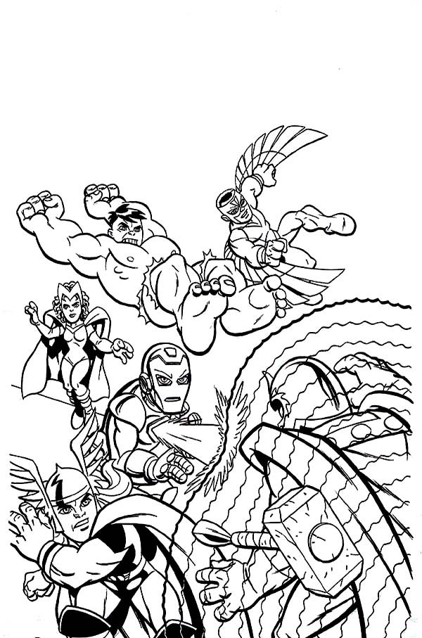 600x907 Marvel Super Hero Squad Attacking Magneto Coloring Page