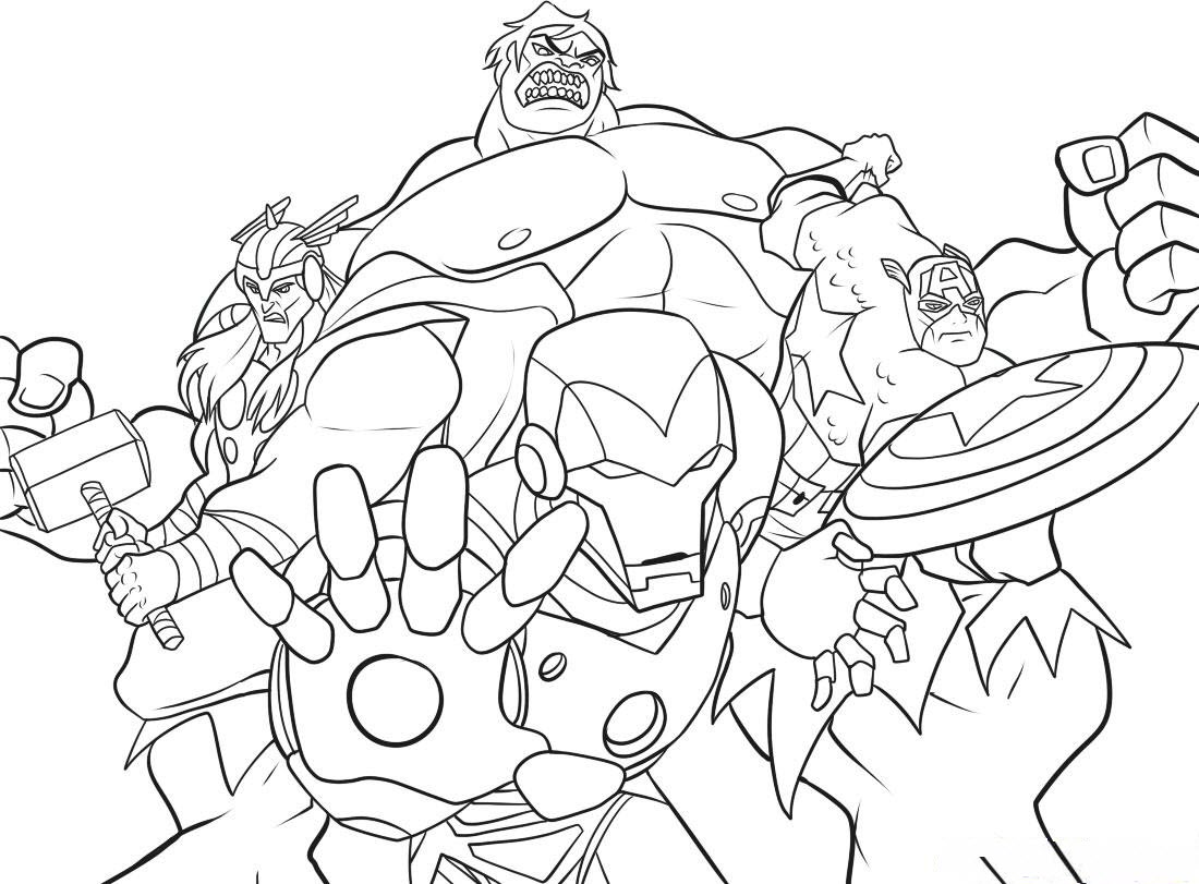 1100x811 Marvel Superhero Coloring Pages