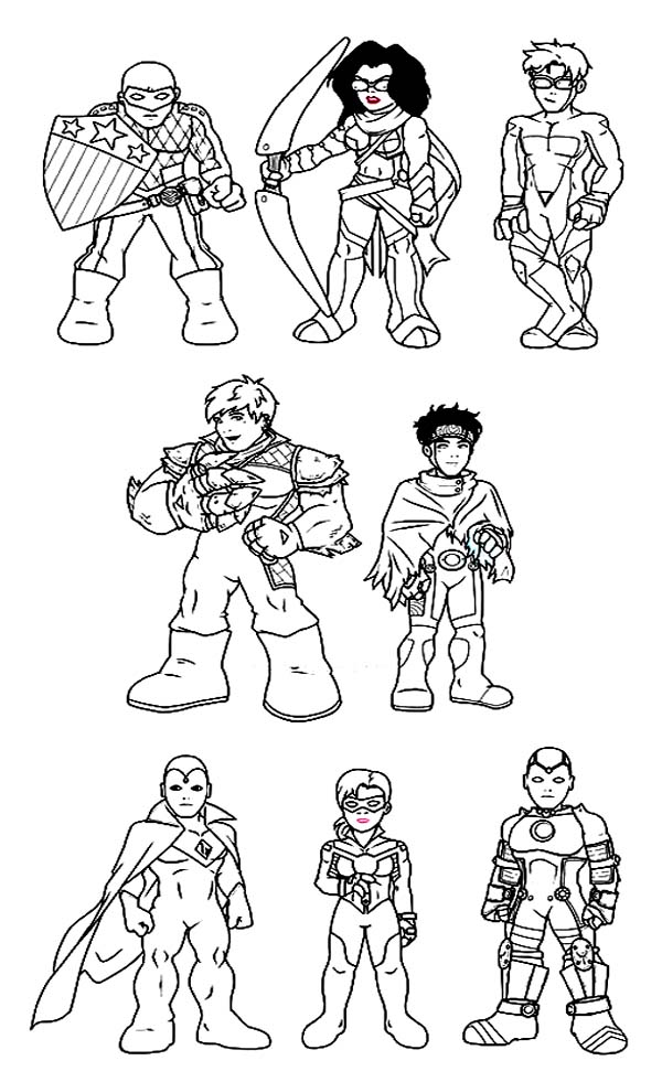 600x981 Amazing Super Hero Squad Coloring Page