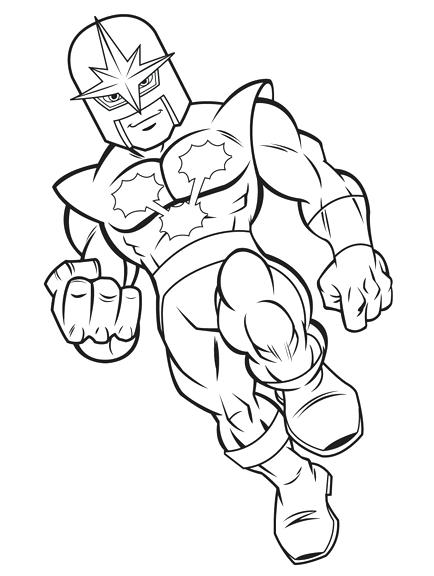 434x576 Plus Draw Super Hero Squad Characters Sketch Coloring Page