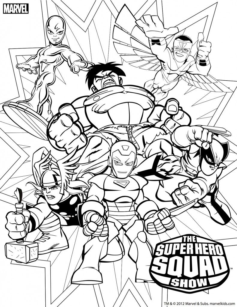 790x1024 Super Hero Squad Coloring Pages Lineart Super Hero Squad