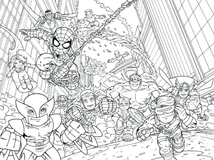 730x546 Super Hero Squad Marvel Coloring Page Printable For Kids Marvel
