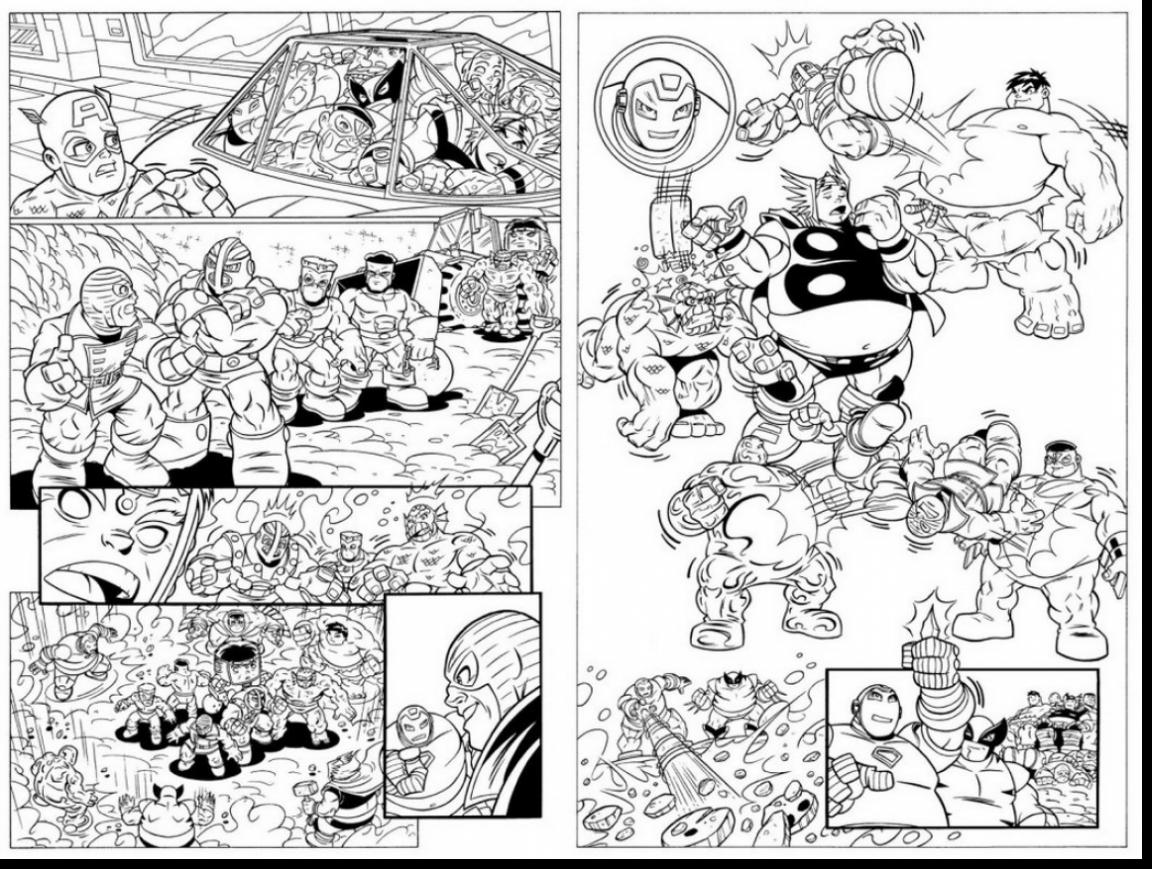1152x869 Surprising Marvel Super Hero Squad Coloring Pages With Superheroes
