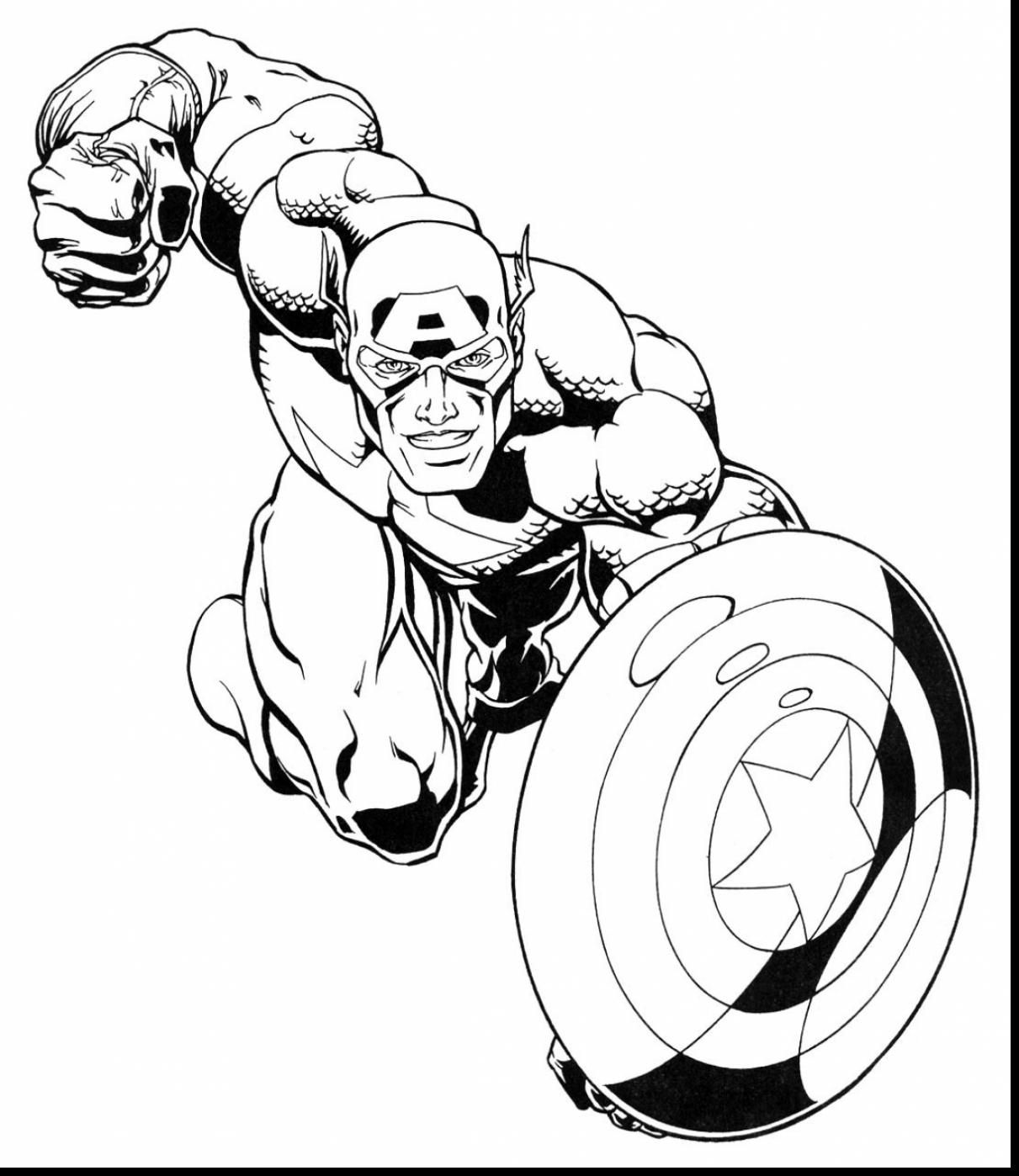 1211x1398 Incredible Marvel Super Heroes Coloring Pages With Super Hero