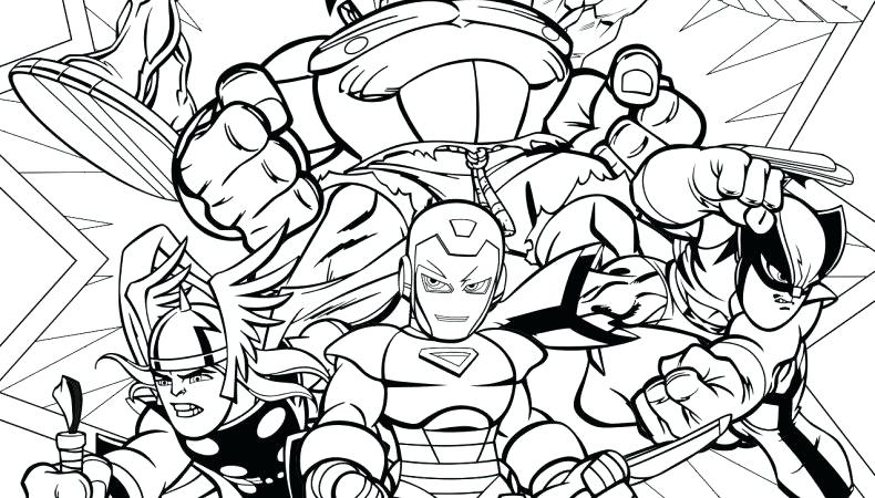 790x450 Super Hero Squad Coloring Pages Coloring Page Superhero Super Hero
