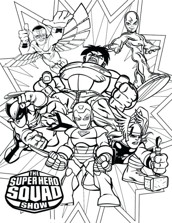 Super Hero Squad Coloring Pages To Print at GetDrawings.com ...