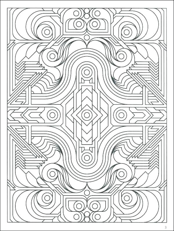 600x794 Coloring Pages Geometric Shapes Coloring Pages Geometric