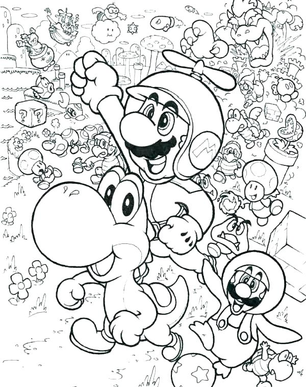 Printable Super Mario 3d Land Bowser Cocky Coloring Pages | Bowser, Super mario  3d, Drawings | 760x600