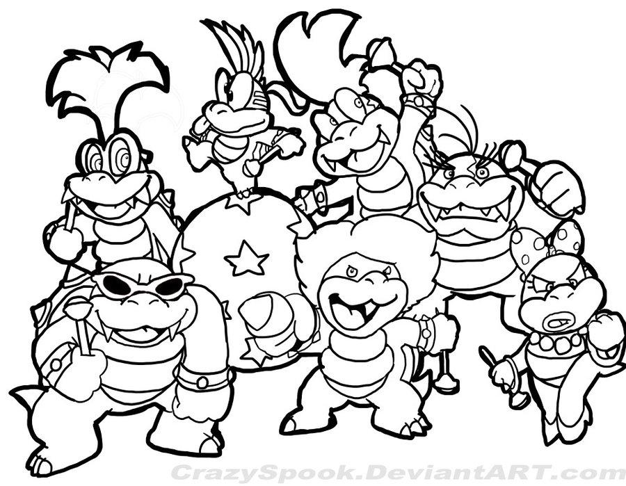 900x699 Super Mario Bros Coloring Pages Printables Super Mario Bros