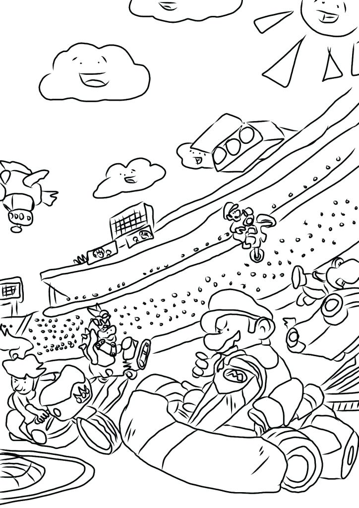 724x1024 Mario Cart Coloring Pages Kart Coloring Pages New Super Mario Bros