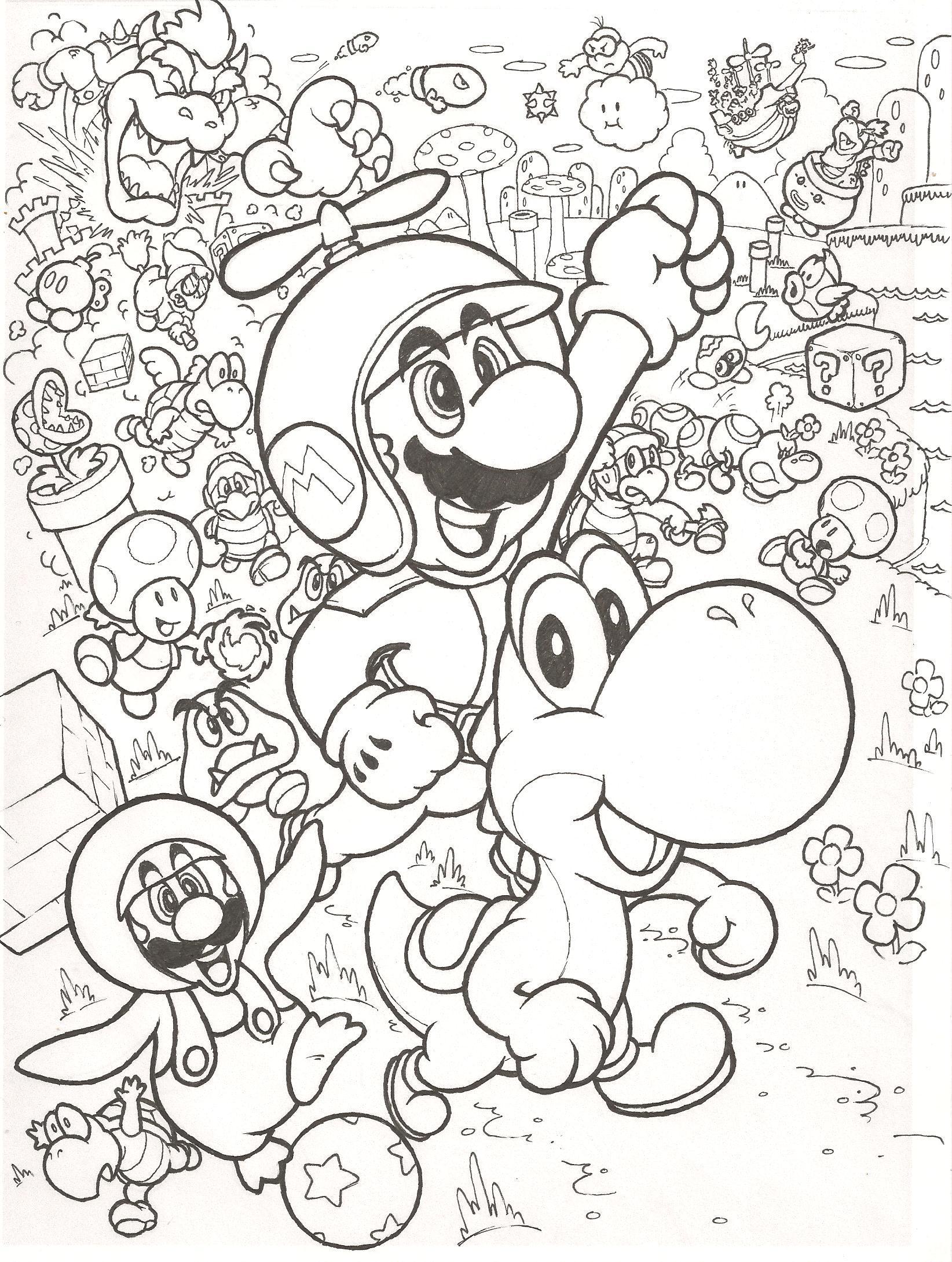 1644x2178 Super Mario Bros Wii Coloring Pages