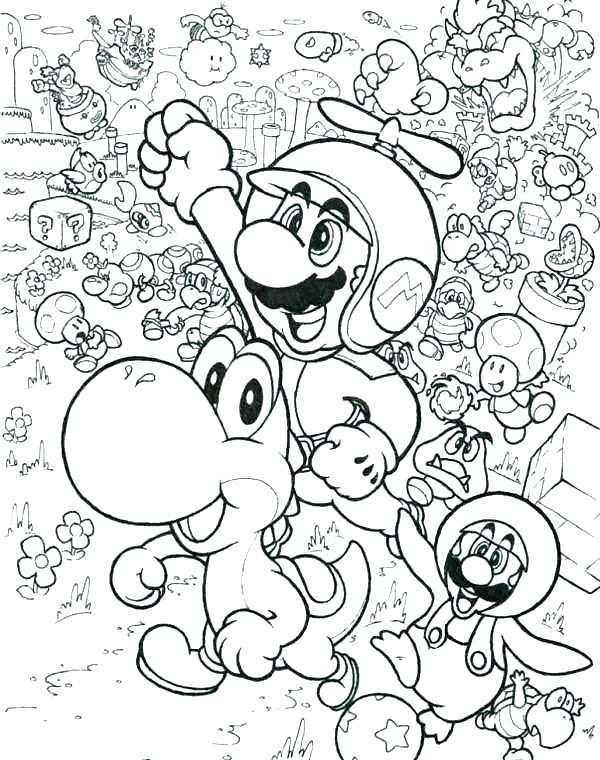600x760 Super Mario Brothers Coloring Pages Super Coloring Download