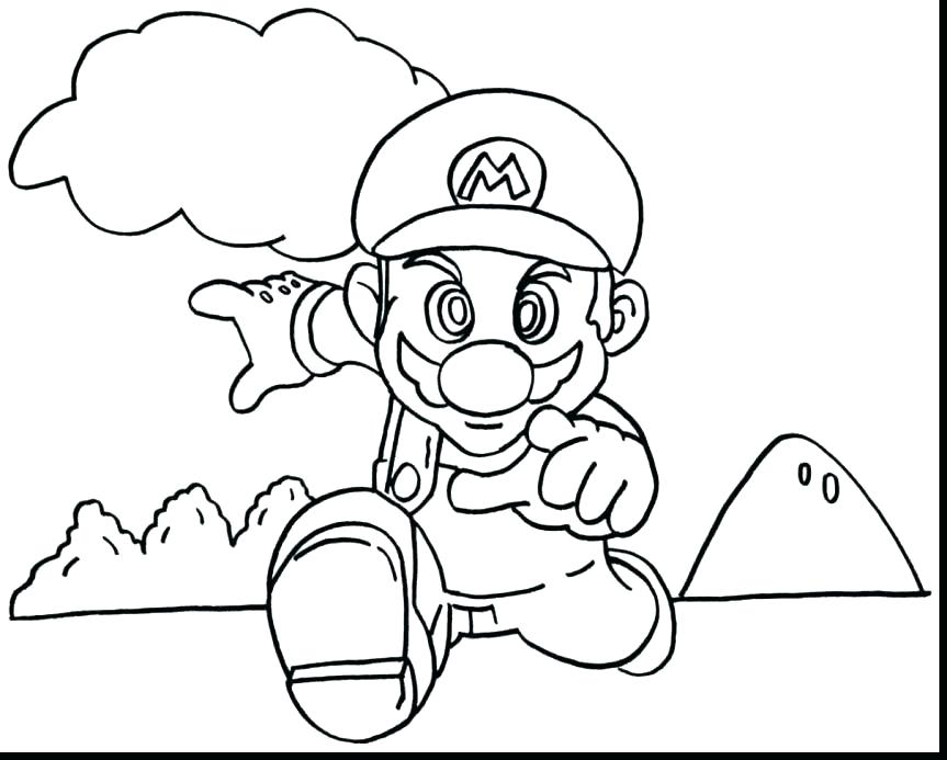 863x693 Super Mario Color Pages Super Mario Brothers Wii Coloring Pages