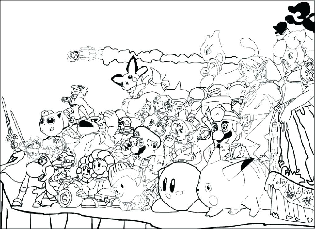 1024x744 Mario Brothers Coloring Page Lovely Ideas Super Smash Bros