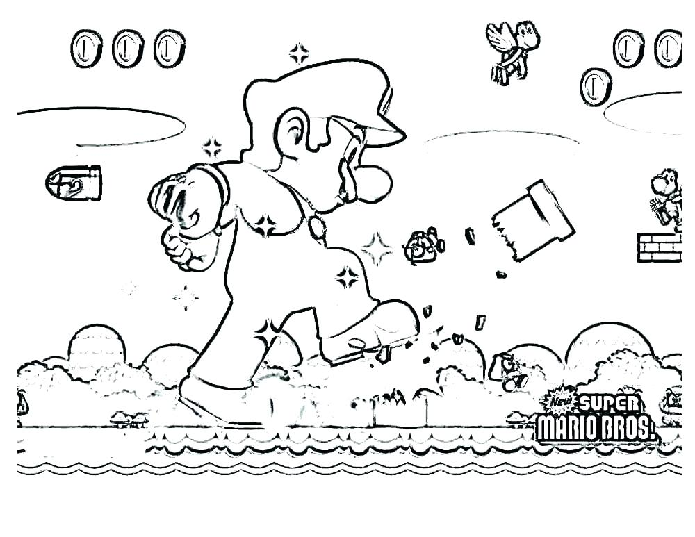 1000x773 Mario Brothers Coloring Page Super Super Mario Brothers Online