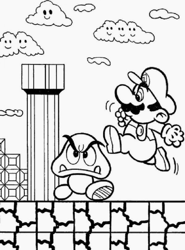 600x807 Mario Brothers Coloring Pages Luxury Line Coloring Super Mario