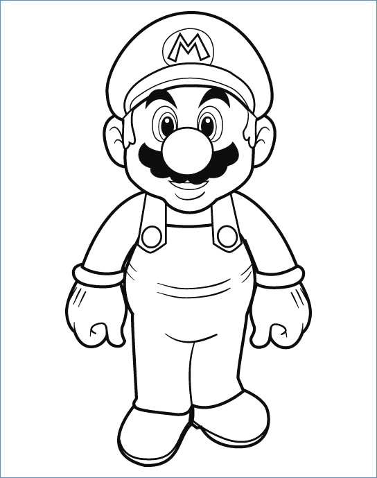 544x689 Super Mario Ds Coloring Pages