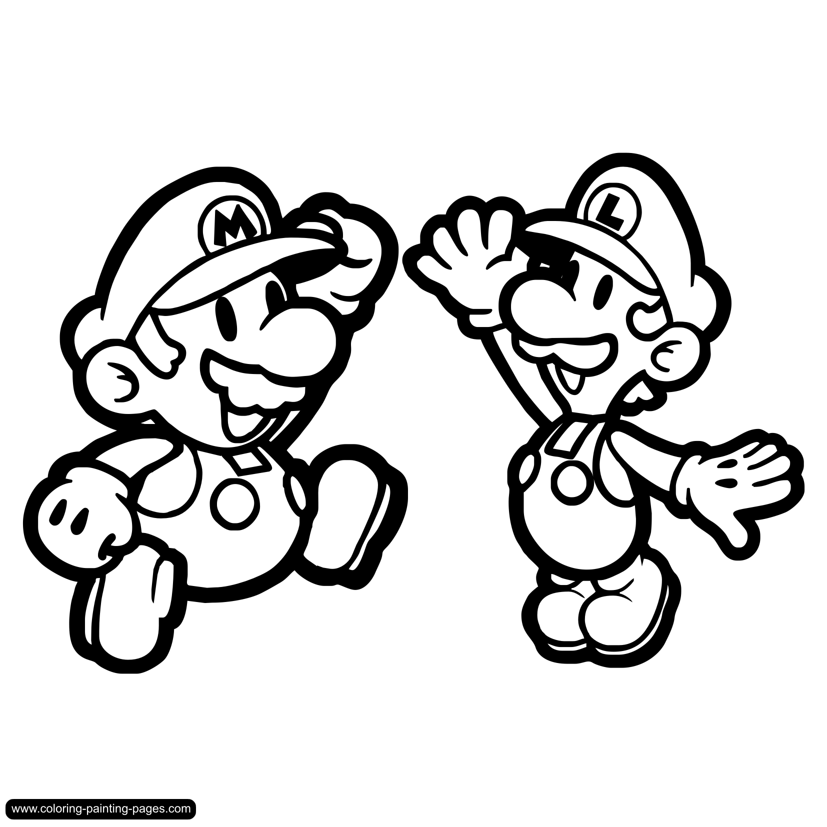 1654x1654 Super Mario Bros Coloring Page Free Download For Download