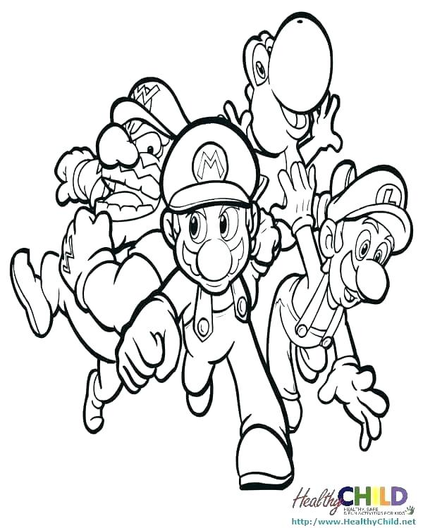 600x750 Super Mario Bros Coloring Pages Printables Super Brothers Coloring