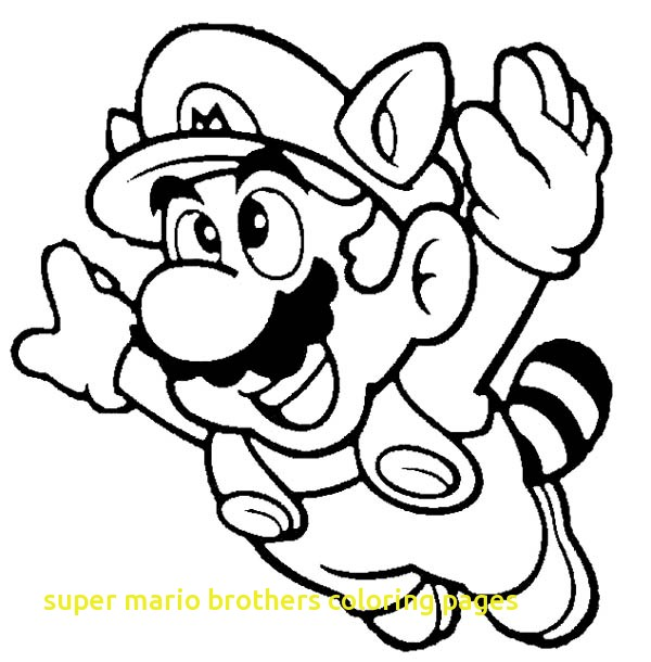 600x610 Super Mario Brothers Coloring Pages With Amazing Super Mario