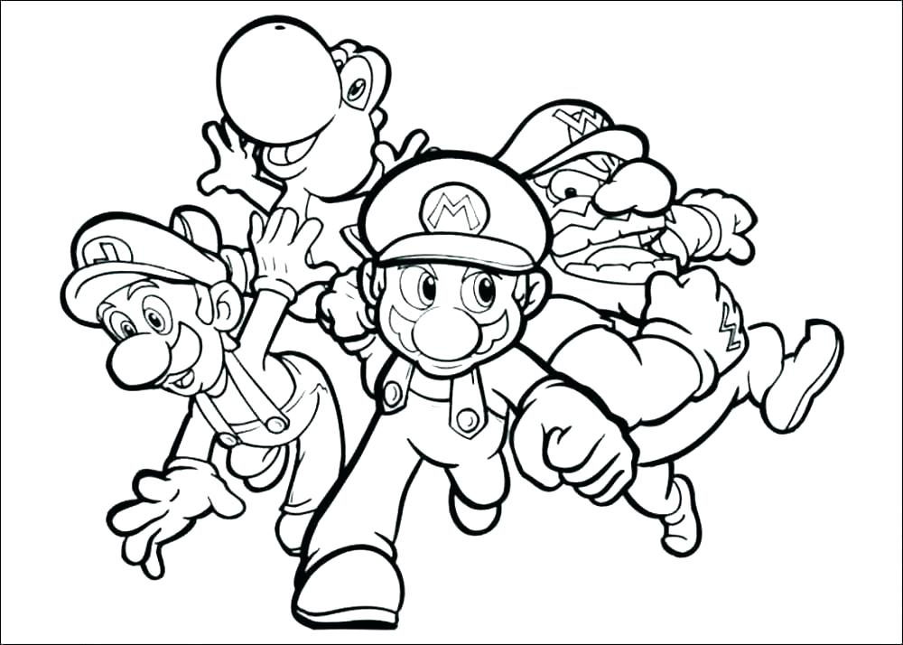 1000x714 Super Mario Coloring Pages Online Super Brothers Coloring Pages