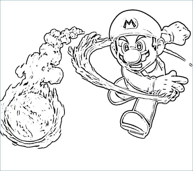 678x600 Mario And Luigi Easy Mario Coloring Page