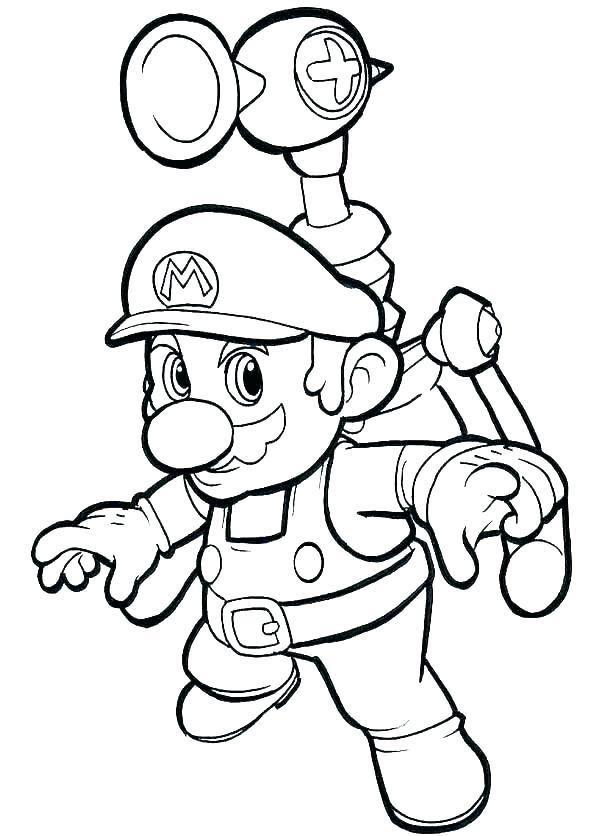 600x836 Mario Bros Coloring Pages Super Bros Coloring Pages Super Bros