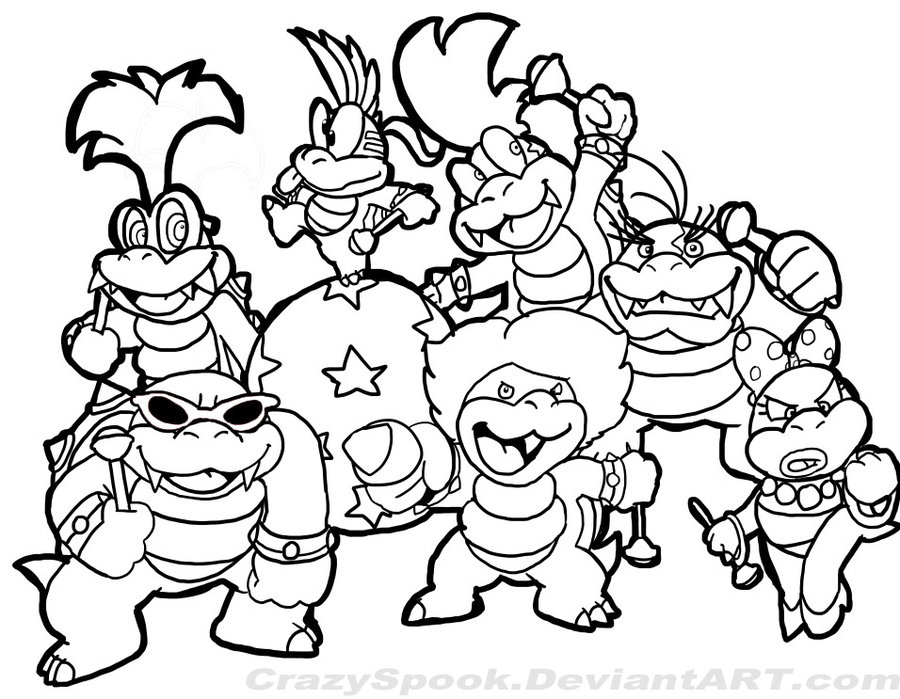 Super Mario Characters Coloring Pages At Getdrawings Com Free For