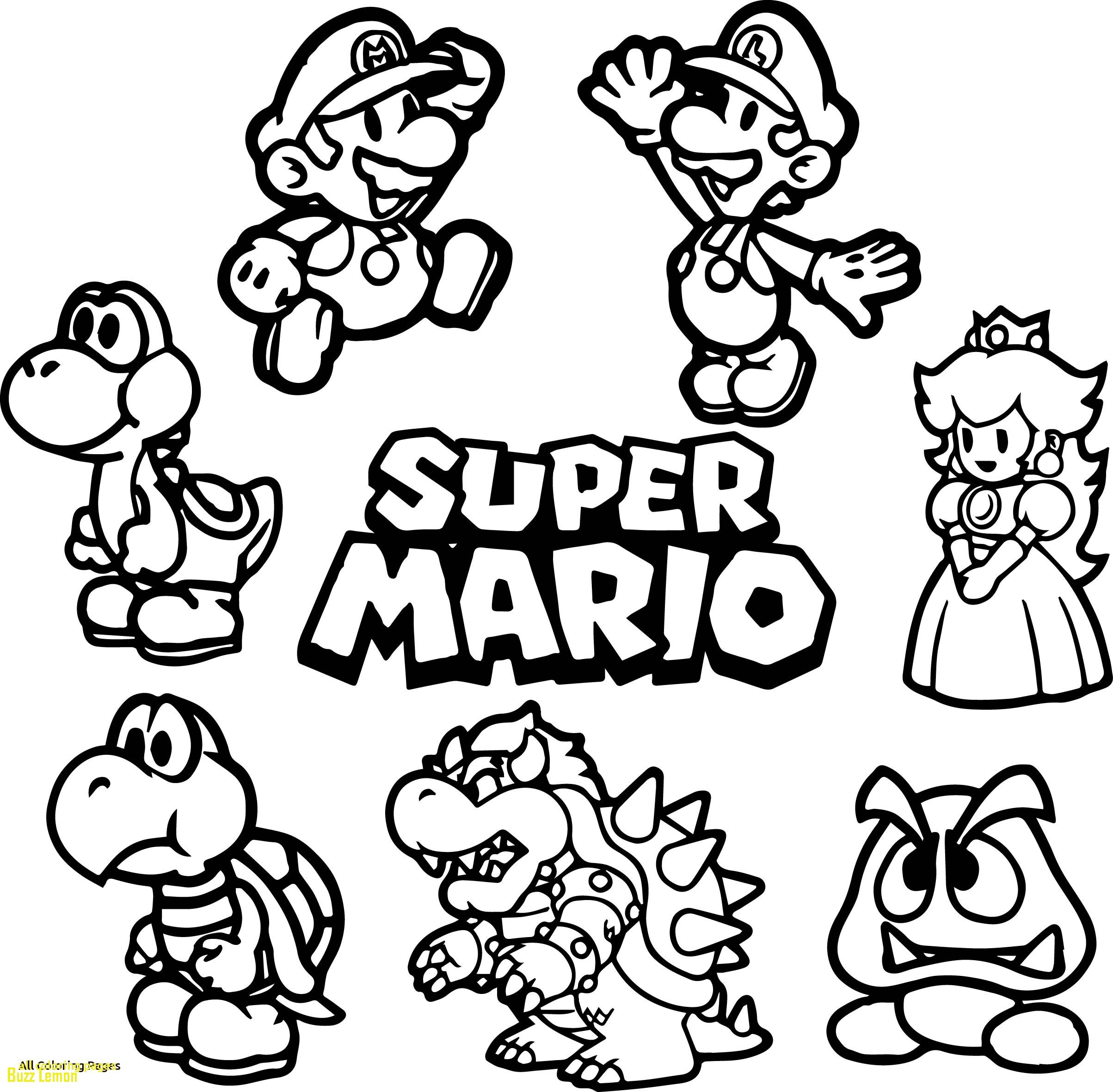 Super Mario Christmas Coloring Pages