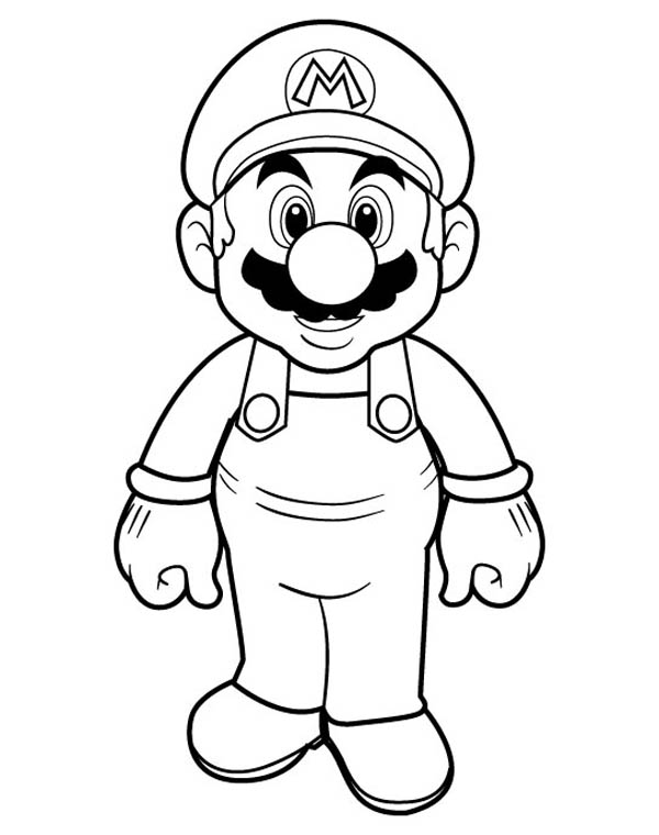 600x760 Picture Of Super Mario Brothers Coloring Page Color Luna