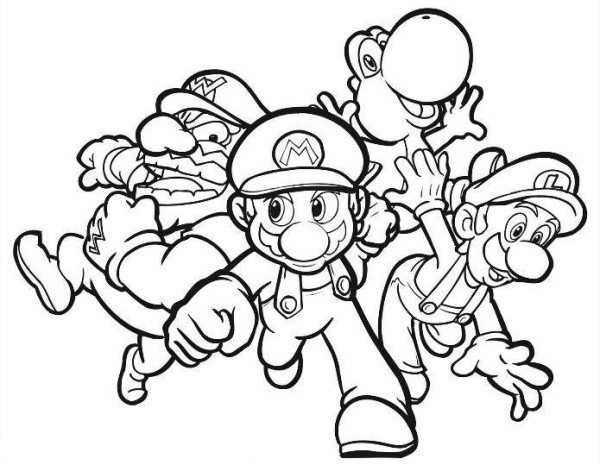 600x465 Super Mario Ds Coloring Pages