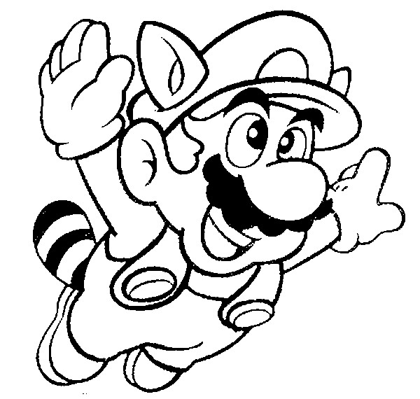 600x570 Super Mario Coloring Pages The Sun Flower Pages
