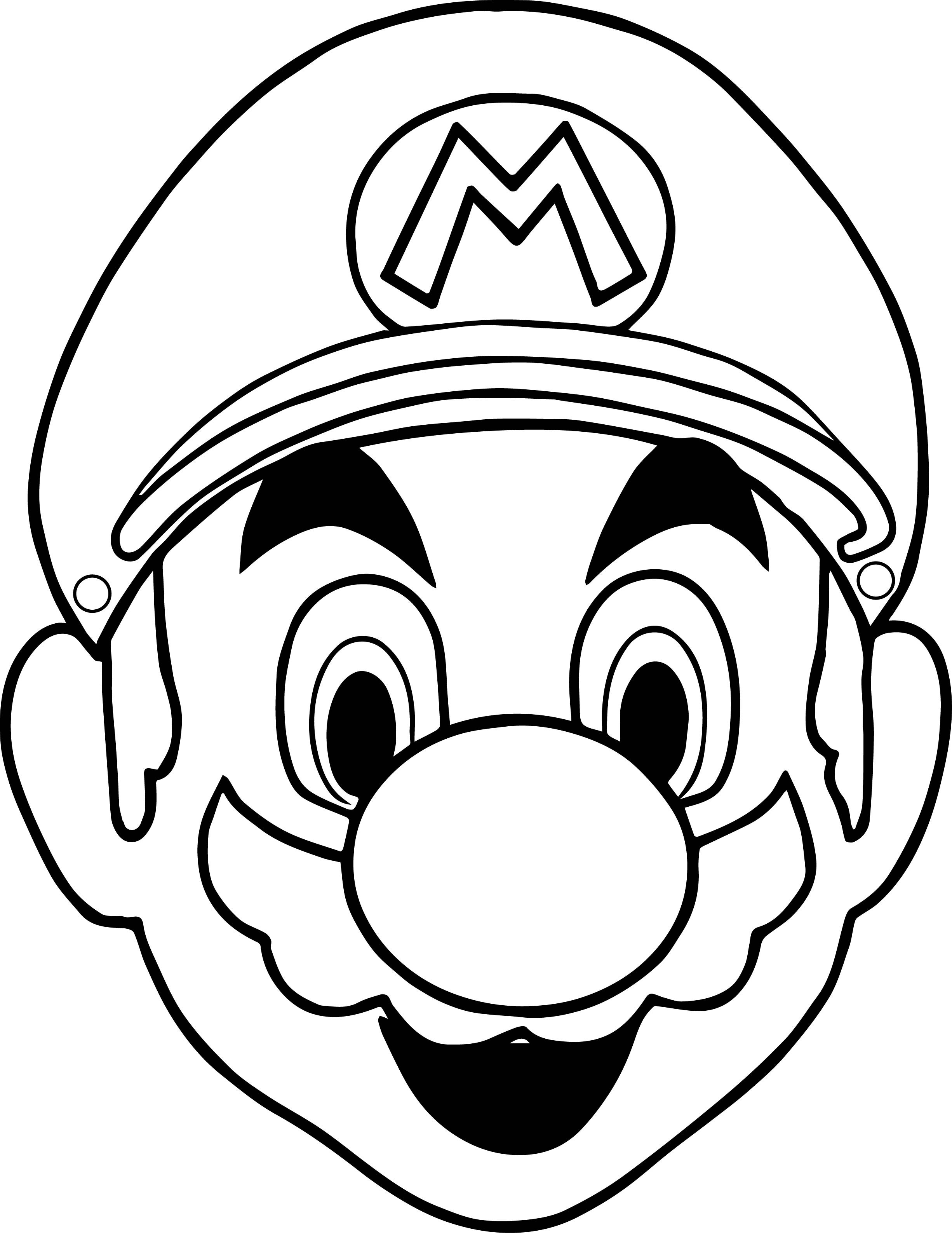 2451x3173 Face Coloring Page Stitch Pages Copy Halloween Masks Super Mario