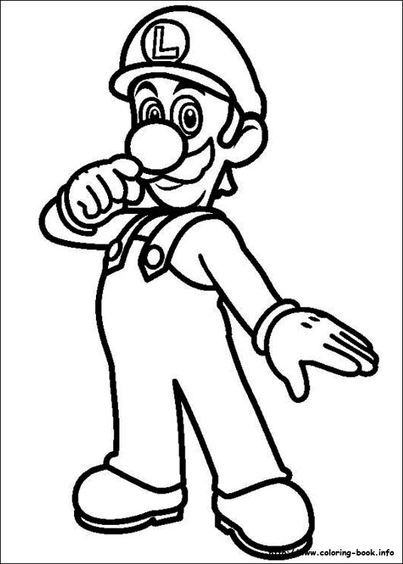 567x794 Luigi Coloring Pages Super Mario Bros Coloring Pages On Coloring