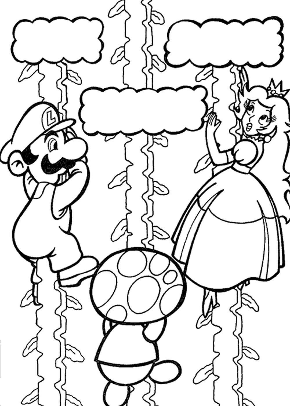 1000x1400 Super Mario Galaxy Coloring Pages
