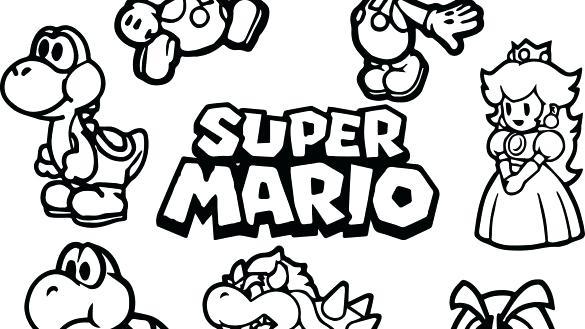 585x329 Mario Color Page Super Coloring Pages Super Mario Kart Coloring