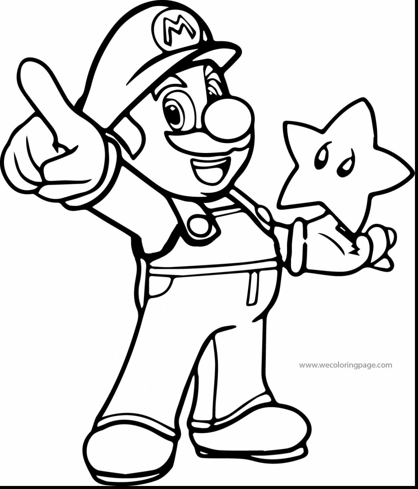 Super Mario Galaxy Coloring Pages