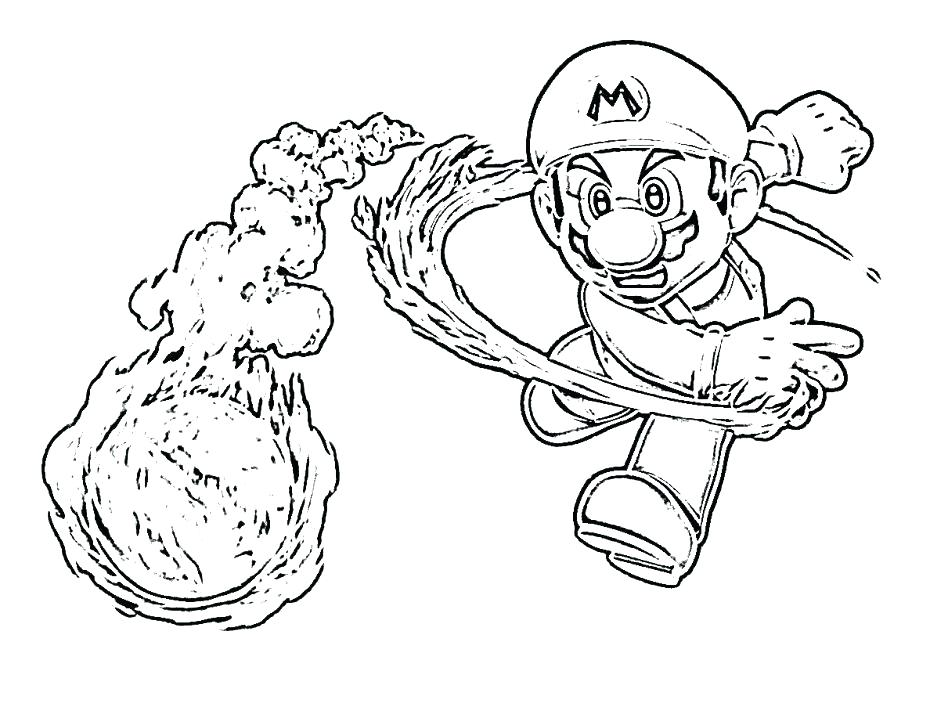 948x725 Super Mario Galaxy Coloring Pages Free Printable Coloring Pages