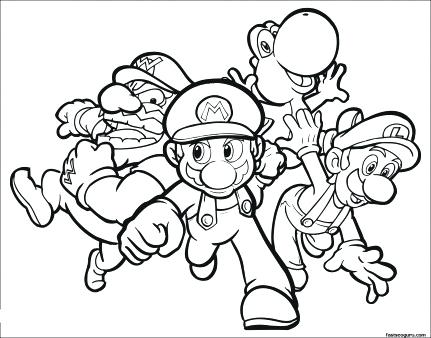 431x338 Super Mario Galaxy Coloring Pages To Print Characters Gallery New