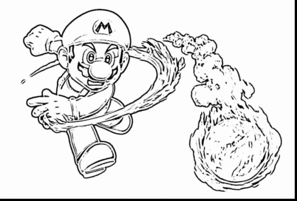 1024x694 Super Mario Galaxy Coloring Pages