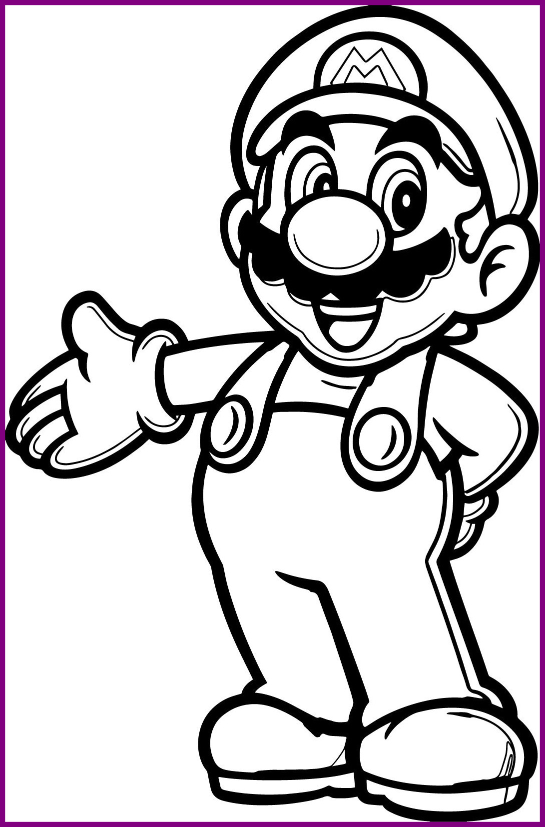 1091x1654 Stunning Super Mario Coloring Pages Phototoon Me Picture For Kart