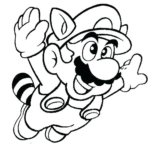 600x570 Super Bros Coloring Pages Free Large Images Party Fun As Well As
