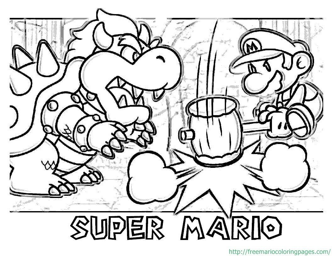 1056x816 Super Mario Maker Coloring Pages Collection For Kids