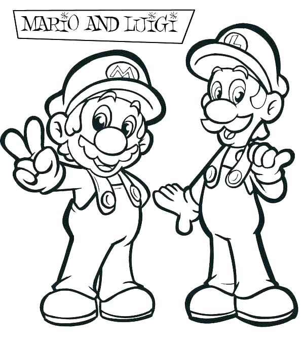 600x692 Mario Brothers Coloring Page And Coloring Pages Super Brothers