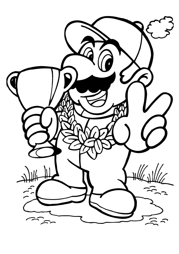 595x842 Super Mario Colouring Pages To Print Mario Kart Coloring Pages