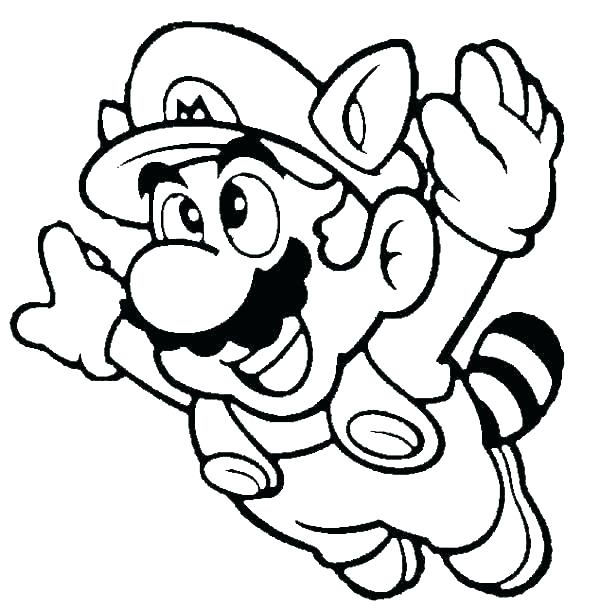 Super Mario Printable Coloring Pages At Getdrawings Com