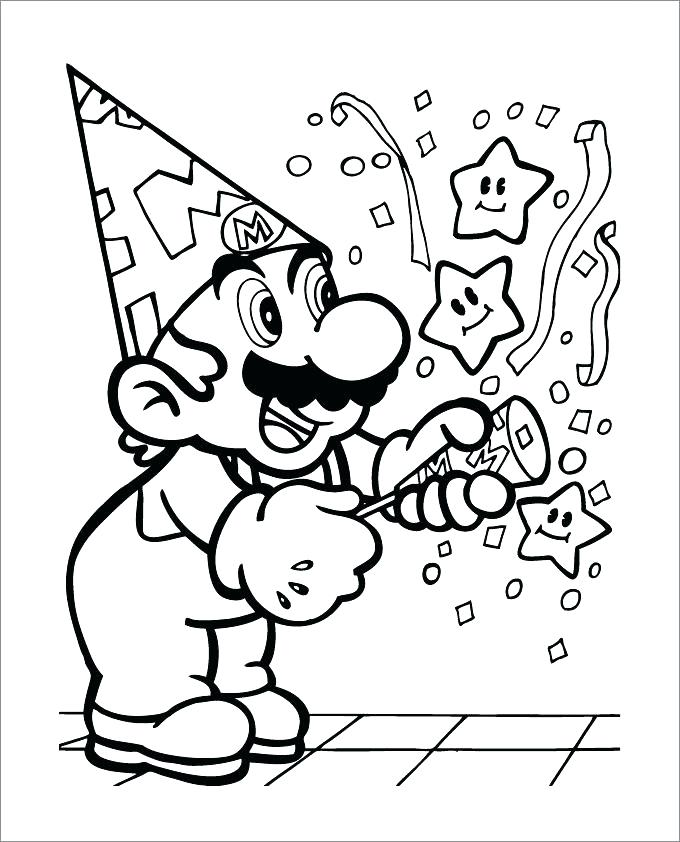 680x842 Mario Color Page Printable Coloring Pages Celebrating Super